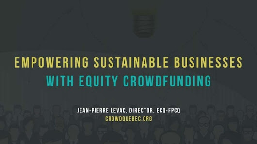 Empowering sustainable businesses with equity crowdfunding