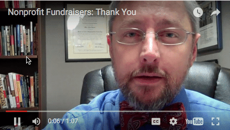 A thank you message for fundraisers | FundraisingCoach.com