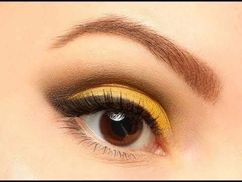 Summer smoky make up: Yellow & Black Eyes