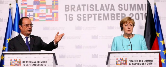 """Bratislava, l'ra di Renzi non invitato al briefing finale di Merkel e Hollande: """"Non condivido le loro conclusioni"""""""