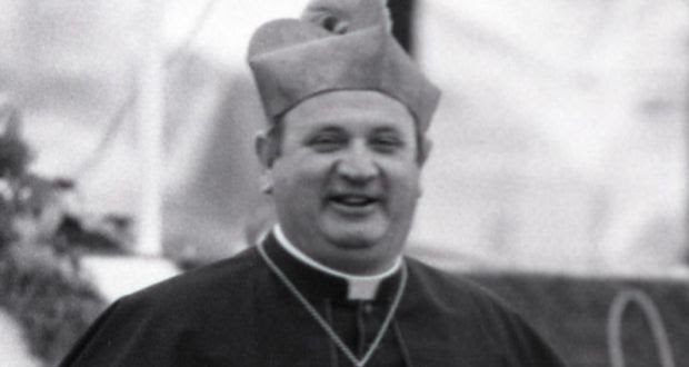 Bishop Eamonn Casey at the papal youth Mass in Galway in 1979. Photograph: Peter Thursfield
