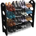 Sorbus Shoe Rack - Black/Silver, Adult Unisex