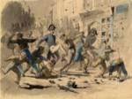 Tumultos en París durante la revolución de 1848. Ampliar imagen