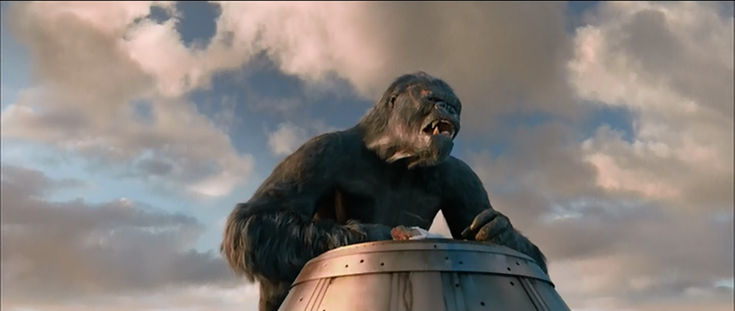 Kong in his final agony.