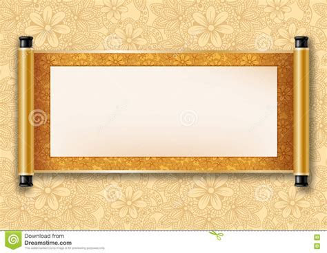 Chinese Scroll Stock Vector   Image: 71134557
