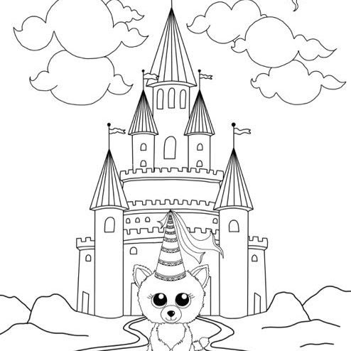 - Beautiful Dragon Beanie Boo Coloring Pages Sugar And Spice