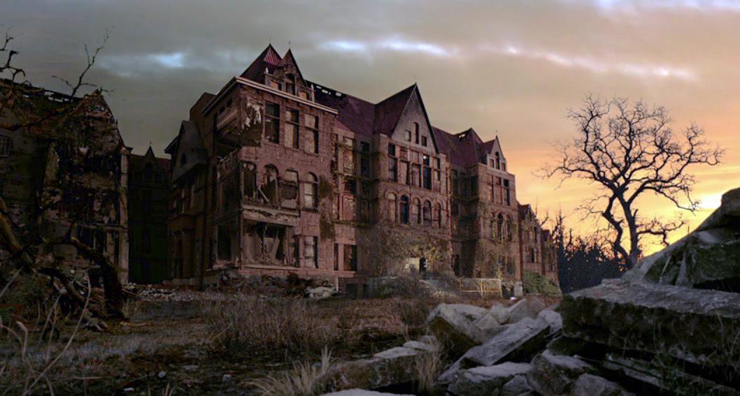 Resultado de imagem para american horror story asylum Mansion
