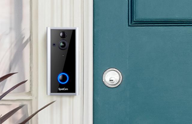【SpotCam Ring 2】 智能門鈴+攝影機 睇清門外人、App 推送通知 消費券網購推介