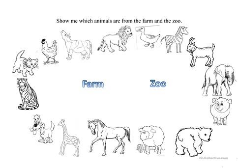 2 WORKSHEETS FOR KINDERGARTEN ANIMALS