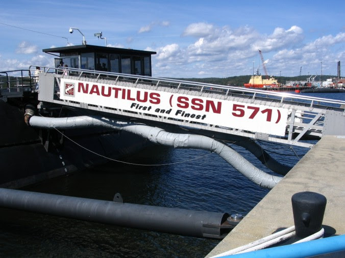 The gangway leading to the Nautilus.