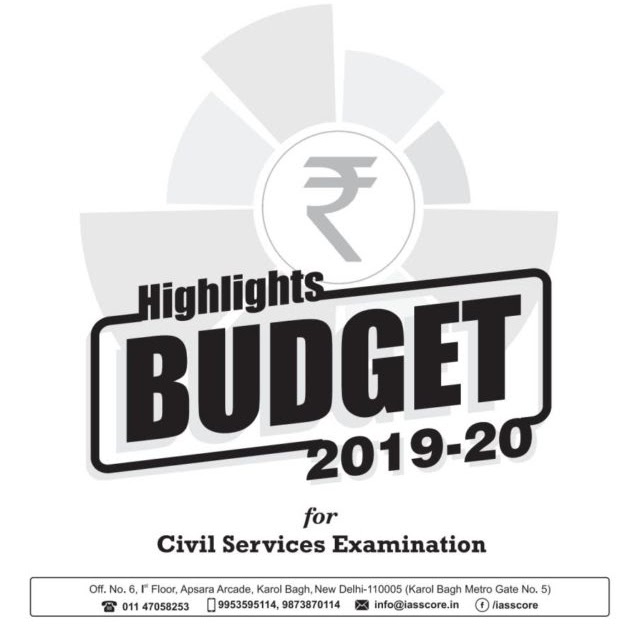 Budget Highlights 2019-2020 by GS Score PDF