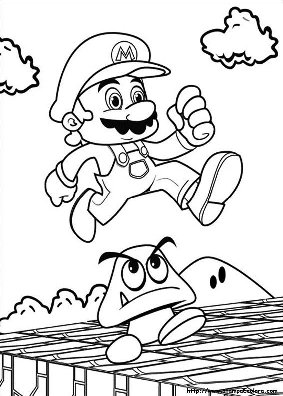 Disegni Di Super Mario Bros Da Colorare