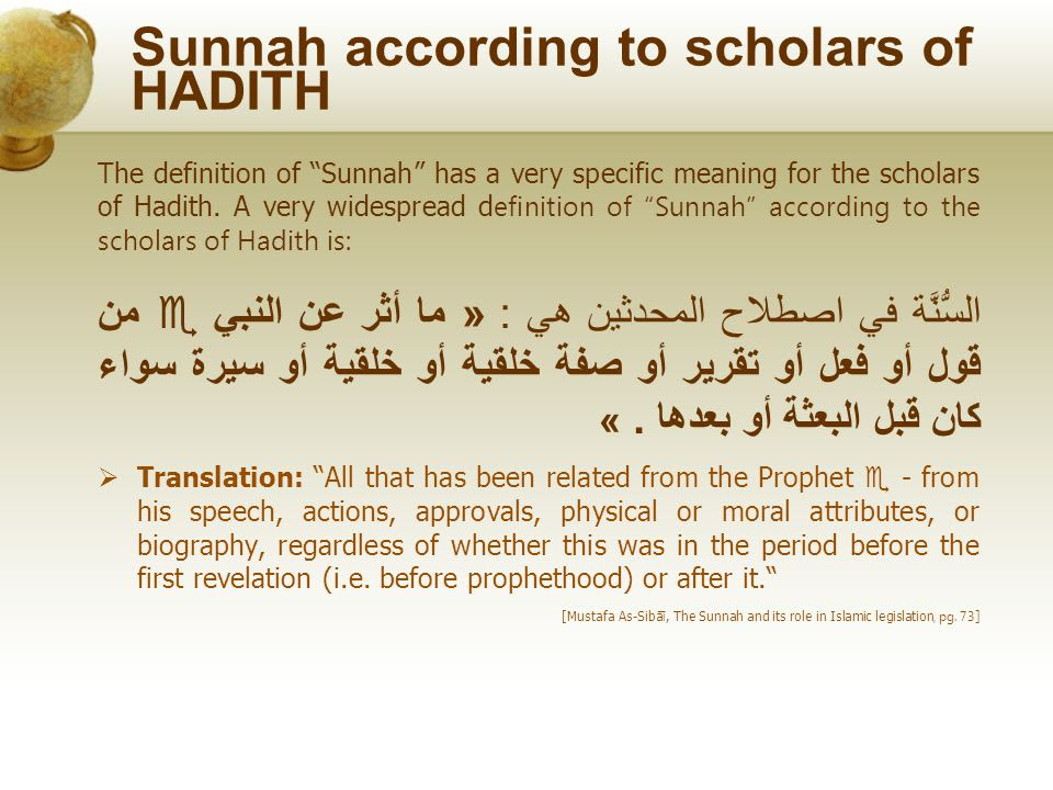 Image result for sunnah definition