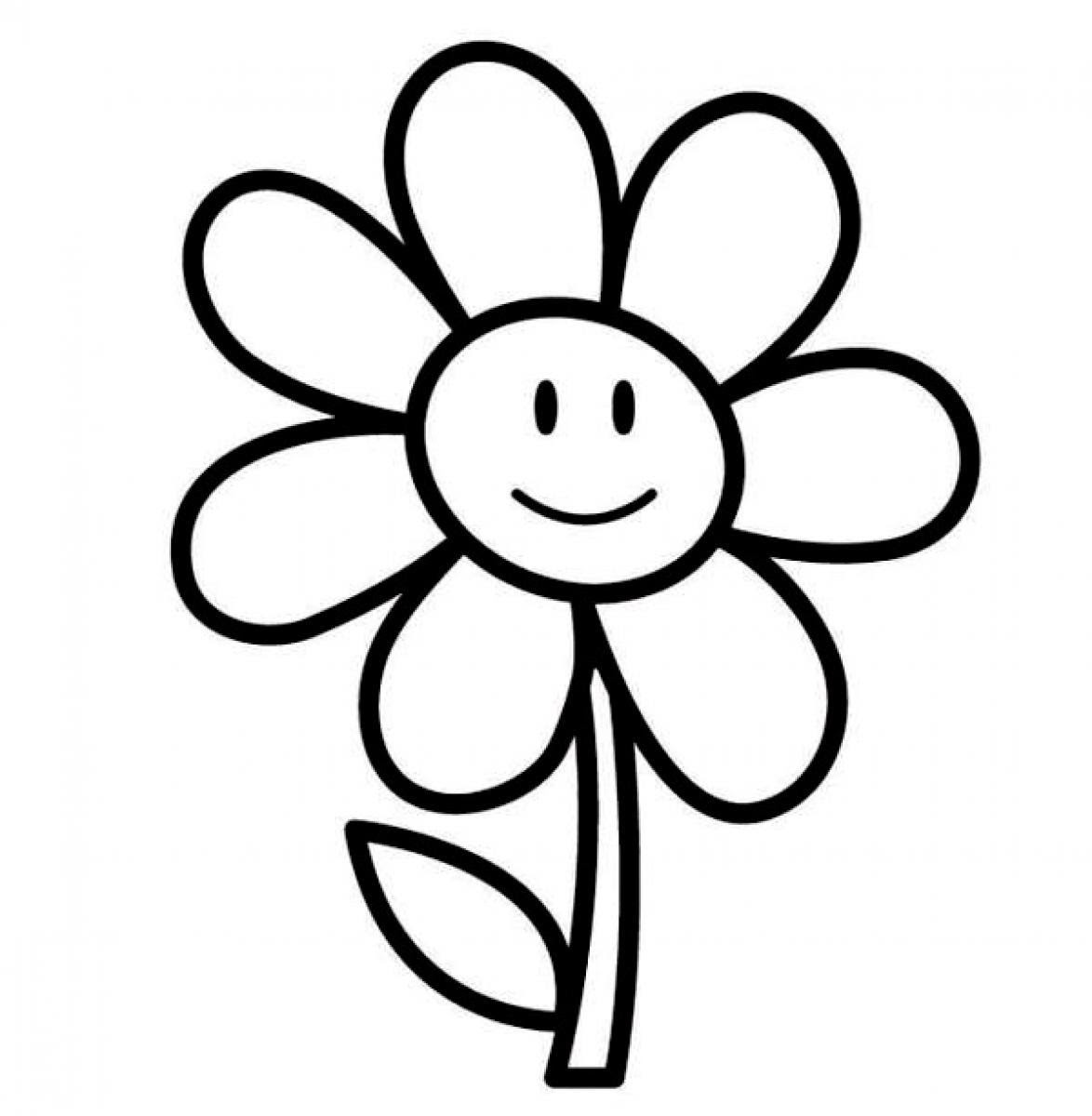 Flower Drawing Cartoon Free Download On Clipartmag