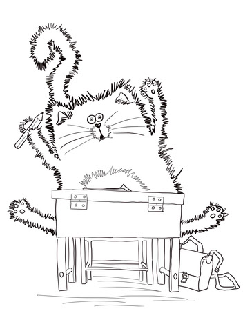 Splat the Cat Back to School coloring page | Free ...