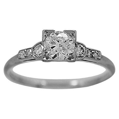 Bailey Banks and Biddle .51 Carat Diamond Platinum Ring at