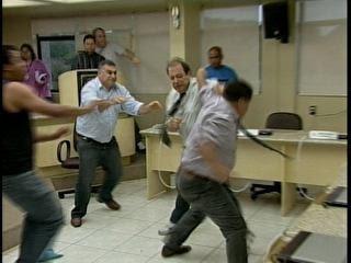 Briga de vereadores de Criciúma (Foto: Reprodução)