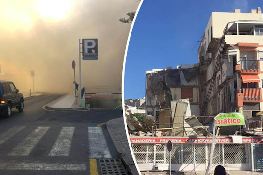 BREAKING: Two feared dead after building collapses next to Spanish bar popular with Brits