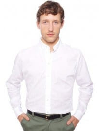 American Apparel Pinpoint Oxford Long Sleeve Button-down Shirt