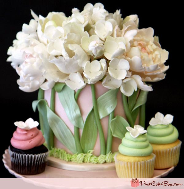 Blush Pink Anniversary Topper » Celebration Cakes