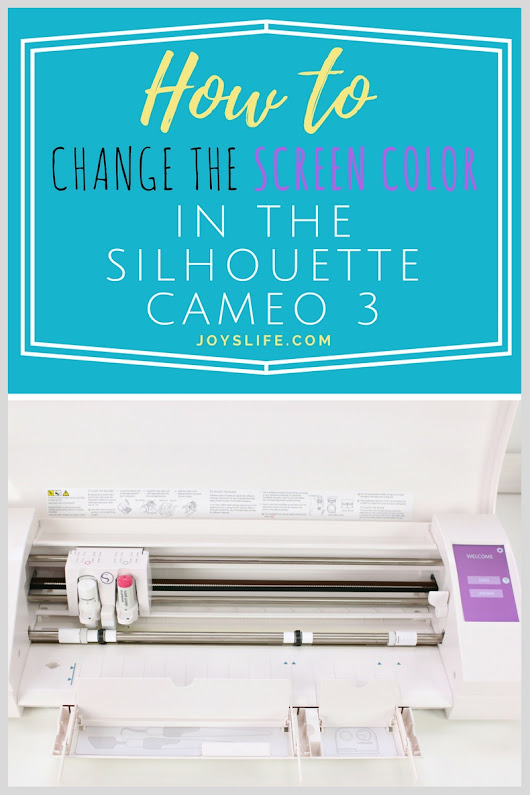 How to Change the Screen Color in the Silhouette Cameo 3!