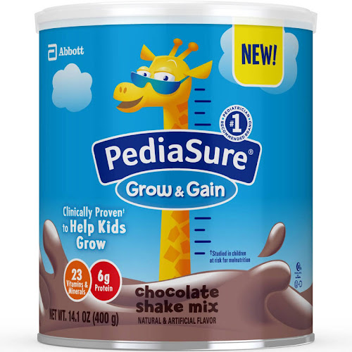 PediaSure Grow & Gain Chocolate Shake Mix - 14.1 oz canister