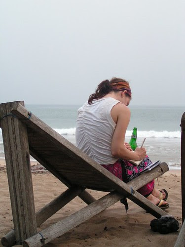 Journaling at the rasta hideaway in Ghana