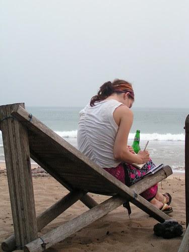 Journaling at the rasta hideaway in Ghana