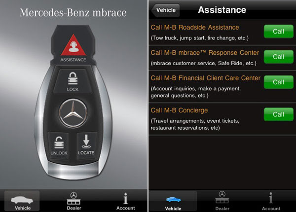 Mercedes-Benz Mbrace iPhone Application 2.0 Introduces ...