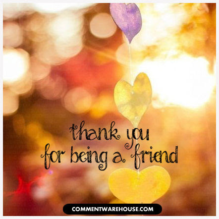 Thank You For Being A Friend Graphic Commentwarehousecom