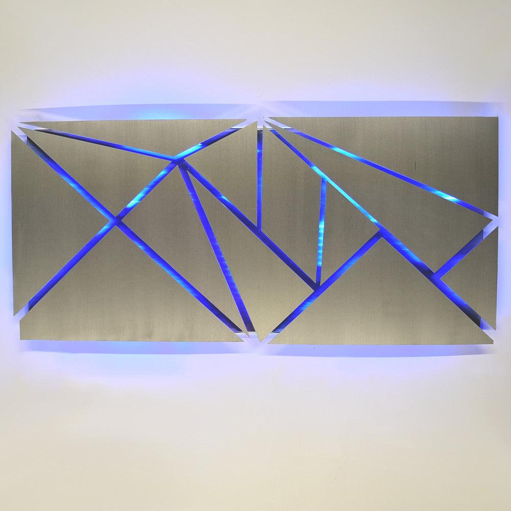 """Aurora Torchiere Series"" 40""x24"" Modern Abstract Metal ..."