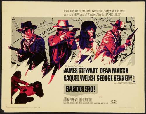 Bandolero US half sheet movie poster (1968)