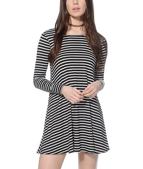 Tops miss sleeve dress long bodycon white striped black and sale quality fabric
