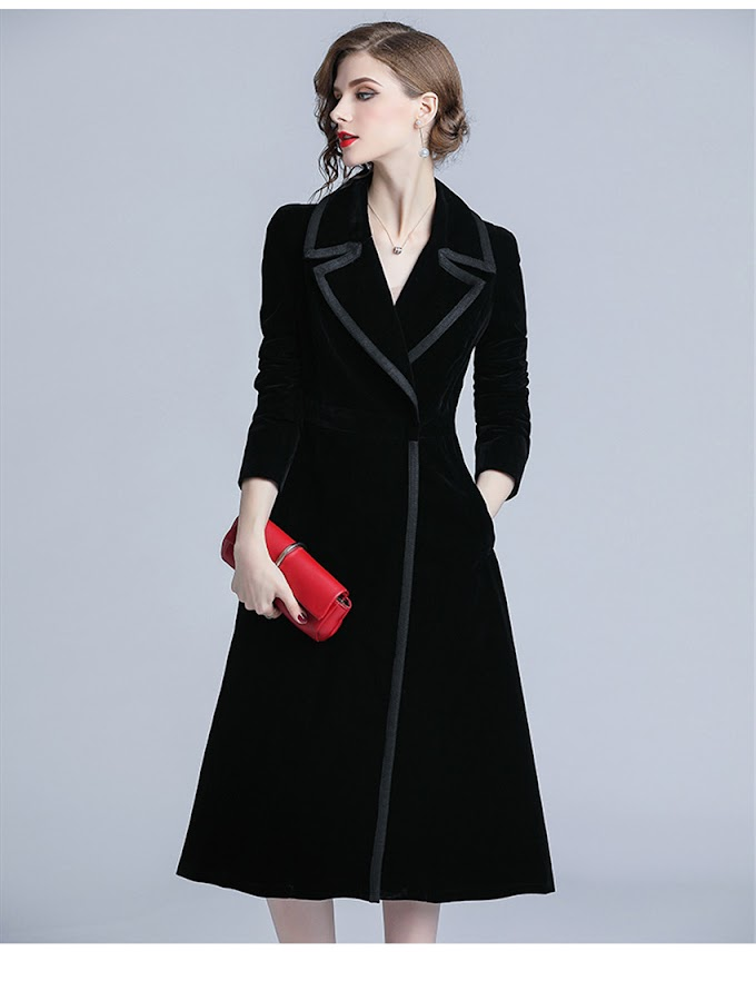 Winter Dress Women Black
