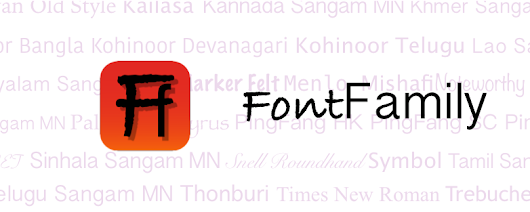FontFamily is out!