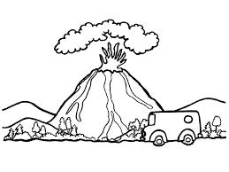 раскраски вулкан
