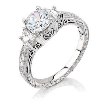 Coast Diamond Engagement Ring with side profile revealing
