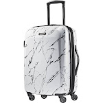 """American Tourister Moonlight 20"""" Expandable Hardside Carry-On Spinner Luggage - Marble - Carry-On Luggage"""