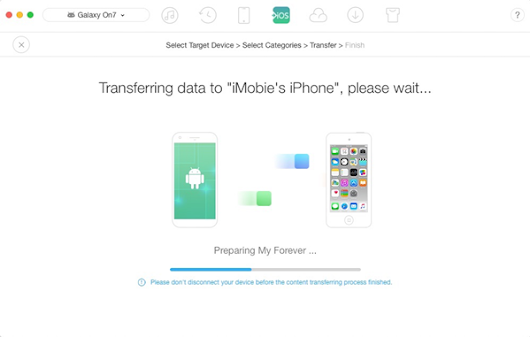 How to move data from Android Device to iPhone for free