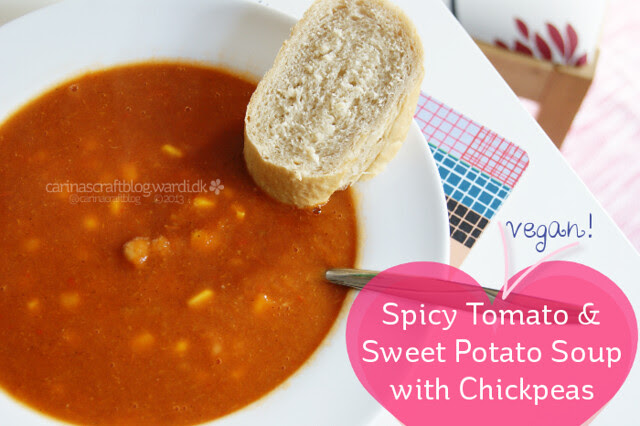 Recipe - Spicy Tomato and Sweet Potato Soup with Chickpeas