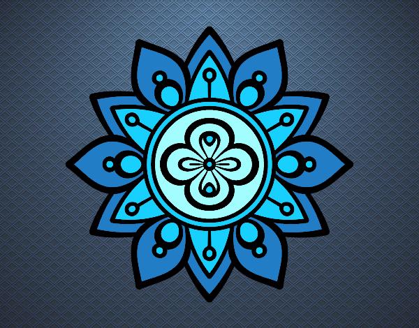 Dibujo De Mandala Flor De Loto Pintado Por Mariasol77 En Dibujosnet
