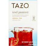 Tazo Herbal Tea, Iced Passion, Caffeine-Free, Filterbags - 6 filterbags, 2.85 oz