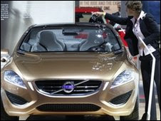 Volvo S60 on display in Los Angeles