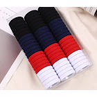 Costbuys Stretch-Hair-Ties Hair-Bands Apparent Pretty-Colors Thick Women Simple-Style Appearance 1Set Womens Hair Styling