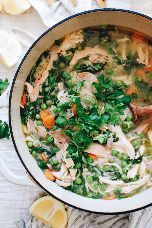 Spring Chicken and Rice Soup | Bev Cooks