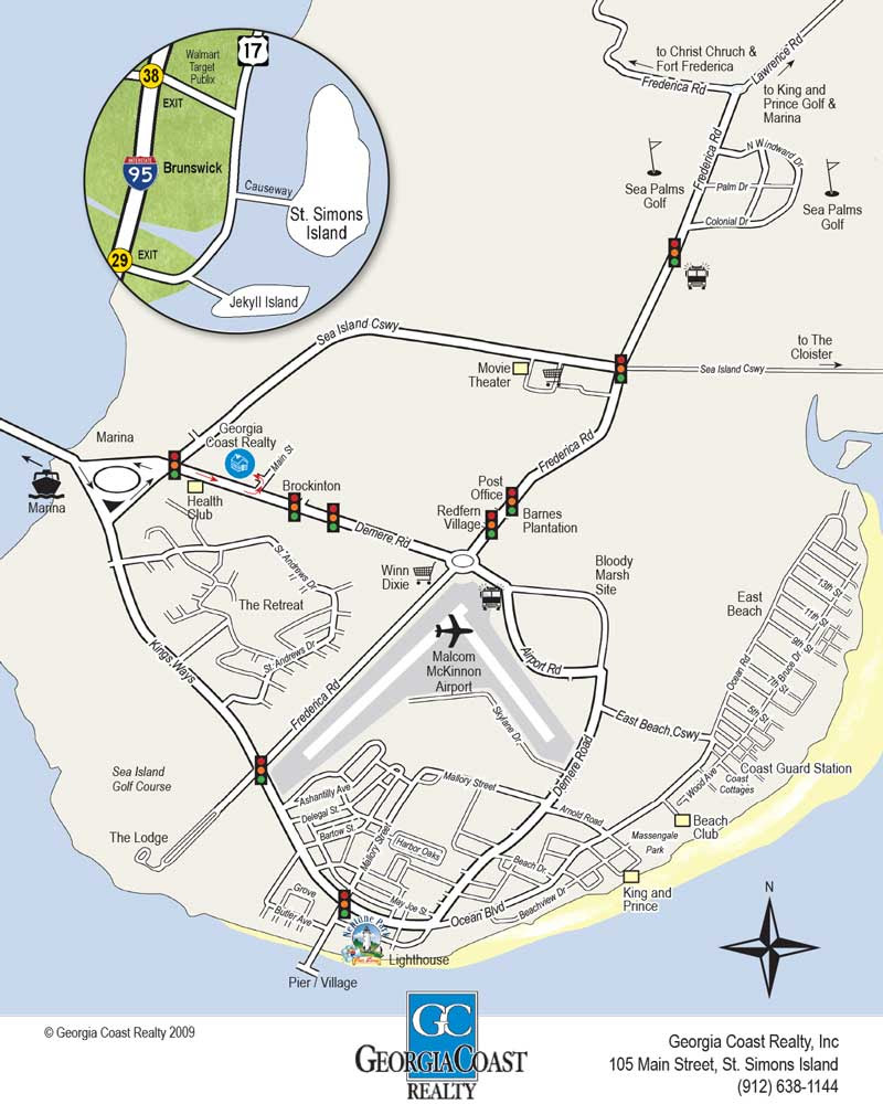 St Simons Island Map St Simons Island Georgia Map | Campus Map