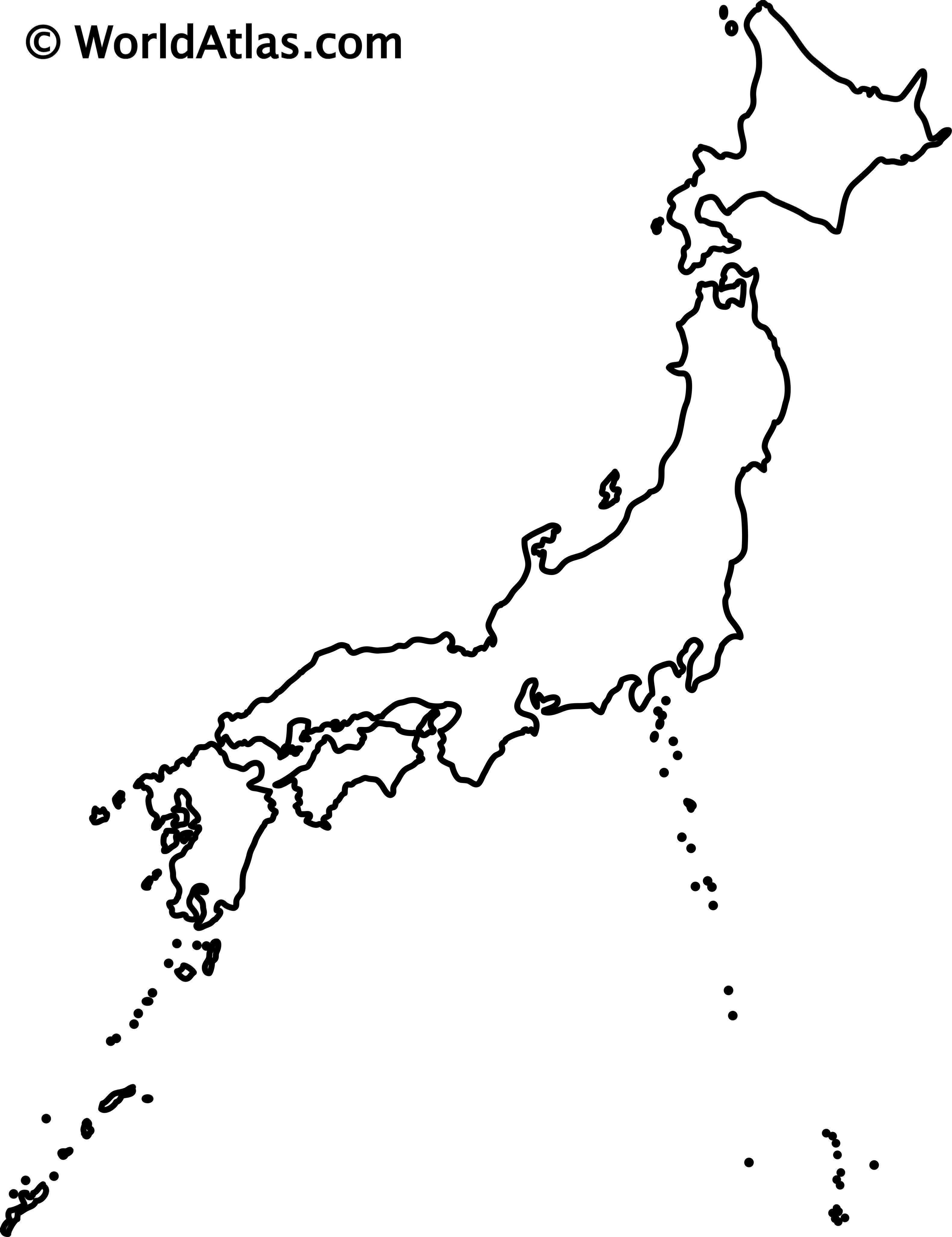 Japan Outline Map