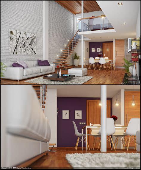 loft living brickwall interior design ideas