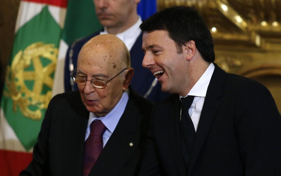 Risultati immagini per Napolitano e renzi