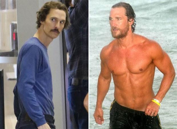 Matthew McConaughey passou por forte transformação ao emagrecer 20 quilos (Foto: Grosby Group)